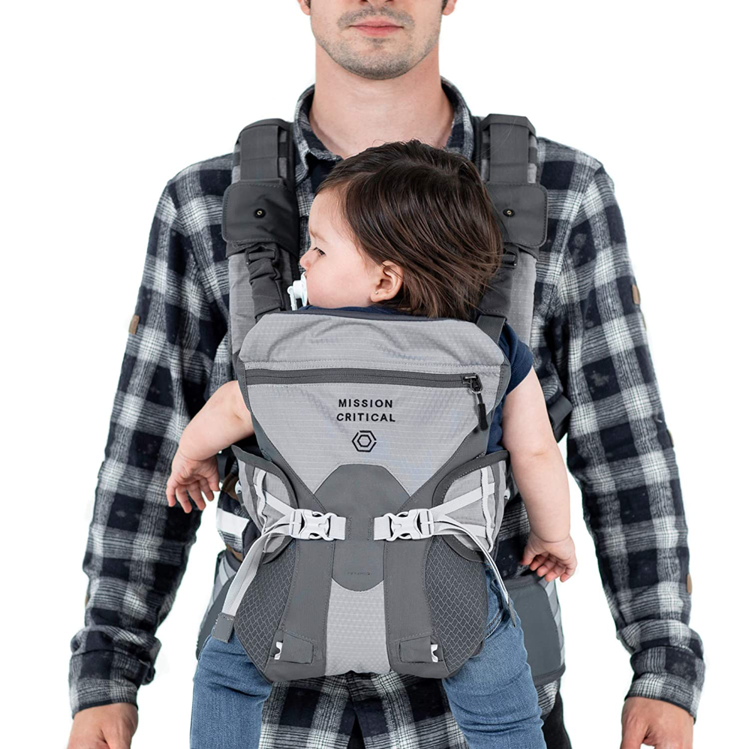 Mission Critical Baby Carrier System 02 Baby Carrier For Men Front Back Carrier Titanium