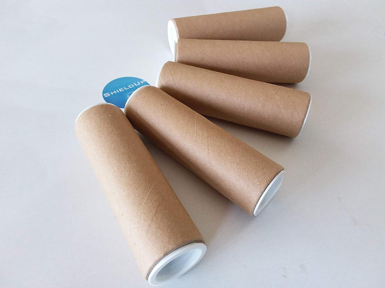 5 x ShieldUp Strong Cardboard Postal Tubes | 25mm Diameter by 100mm Long