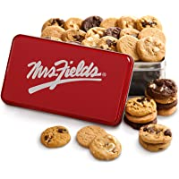 Mrs. Fields Signature 30 Nibbler-Bite Size Cookies Tin Includes 5 Different Flavors - Perfect Gift for any Holiday or Occasion