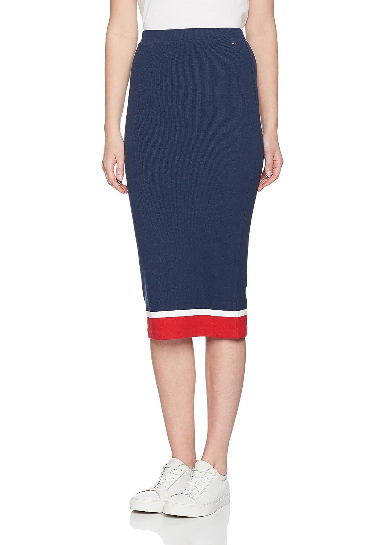 TALLA M. Tommy Jeans Mujer Knit  Falda  Lápiz