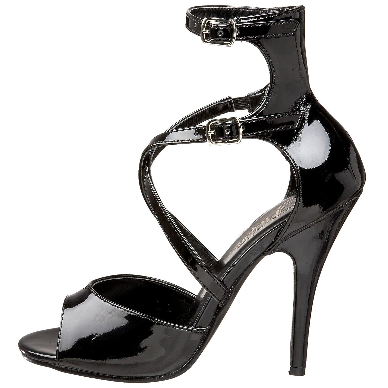 Pleaser Women's 14 Seduce-205 Ankle-Strap Sandal B000AAJQMS 14 Women's B(M) US|Black Patent daf706