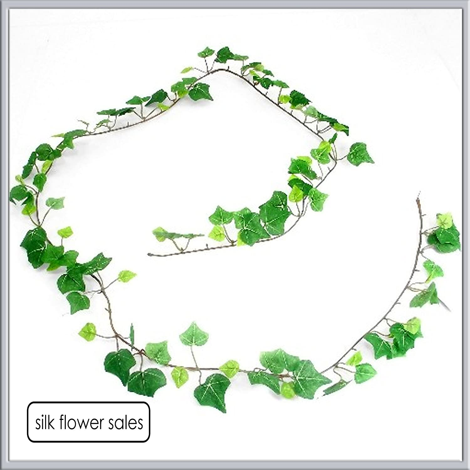 Mini green Ivy garland Artificial silk 6ft with 108 leaves fs