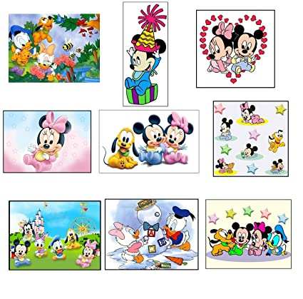 Mickey And Minnie Mouse Stickers.Amazon Com 9 Baby Mickey Mouse Stickers Baby Minnie Mouse