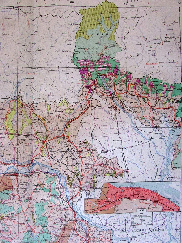 Patna In India Map.Amazon Com Patna Cultural Landscape Sikkim C 1979 Huge National
