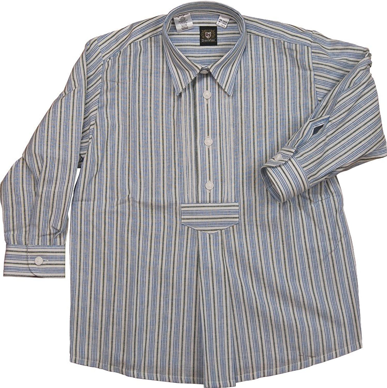 OS Trachten Kinder Trachtenhemd Fred mit Brustriegel und Zwirnknöpfen