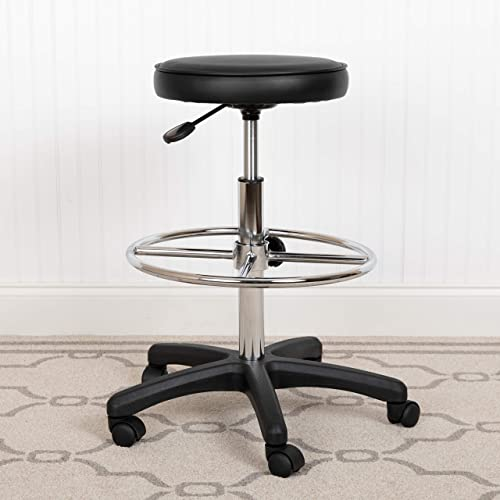 Flash Furniture Medical Stool Backless Drafting Stool with Adjustable Foot Ring