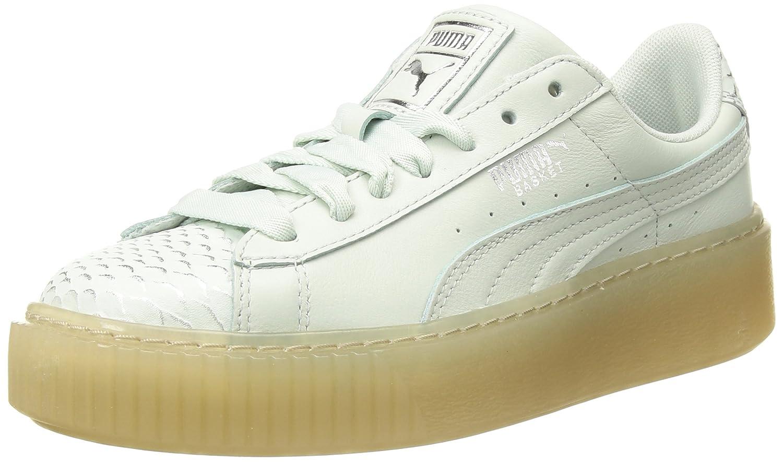 PUMA Women's Basket Platform Ocean Wn Sneaker B0752DN41K 9.5 B(M) US|Blue Flower-puma Silver