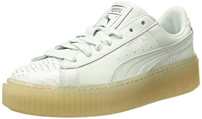 Amazon.com   PUMA Women s Basket Platform Ocean Wn Sneaker   Fashion ... 94353f7d6c