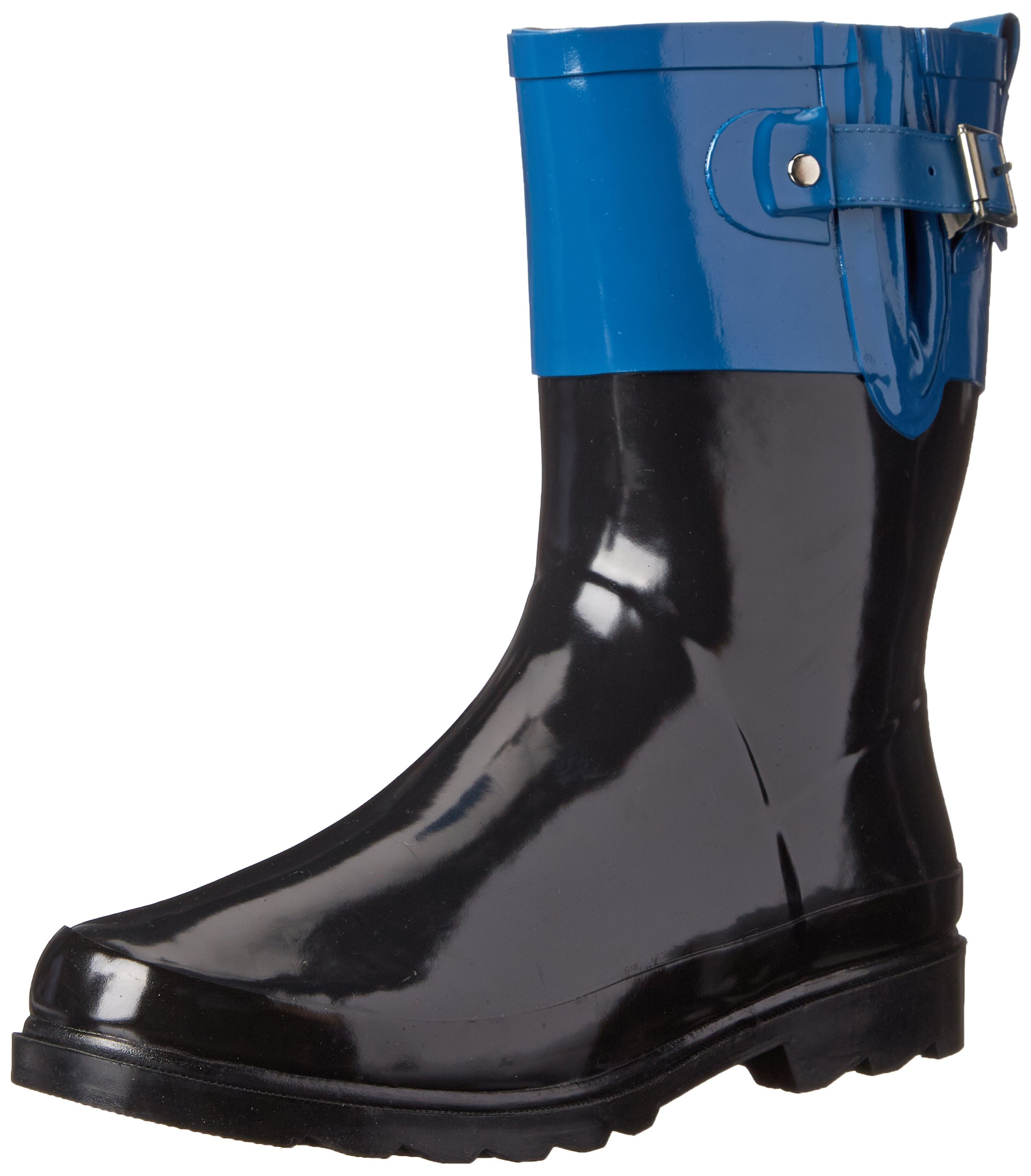 Western Chief Women's Printed Mid Rain Boot, Top Pop Blue, 9 M US