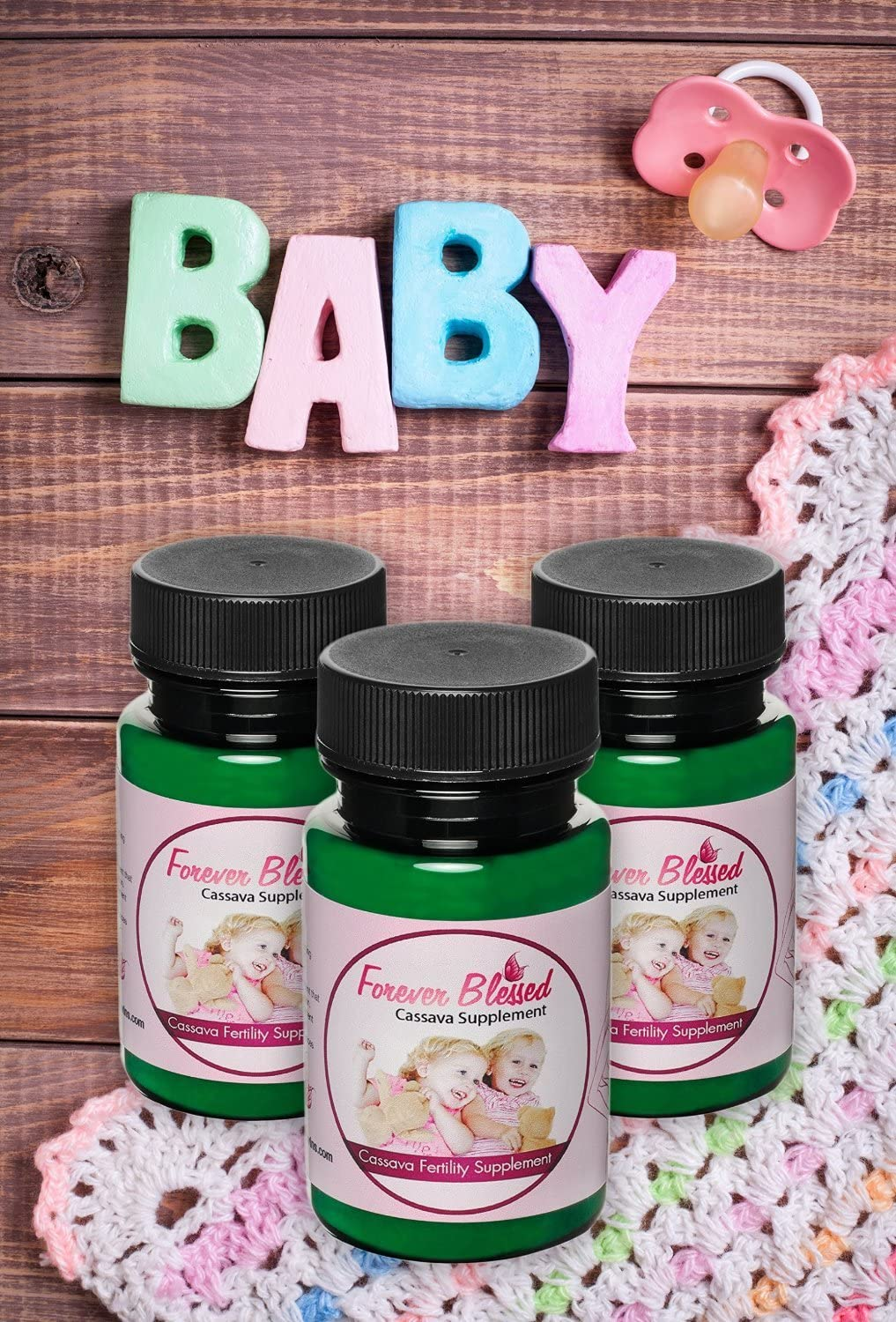 3 Month Supply Organic Cassava Root – Fertility Supplement for Twins – Certified Strongest Product on The Market Vitamin for a Natural Pregnancy