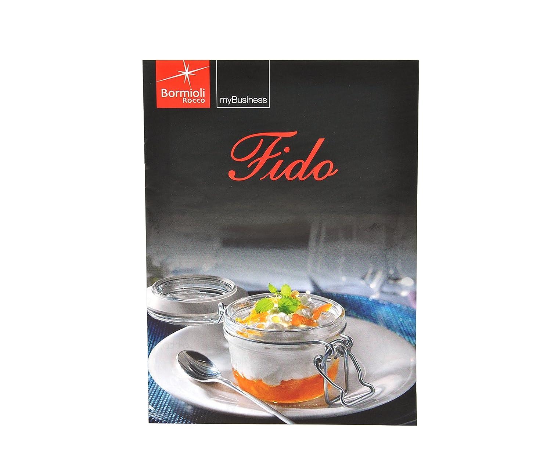 Tarro de vidrio Original Fido 1, 5L con recetas Bormioli: Amazon ...