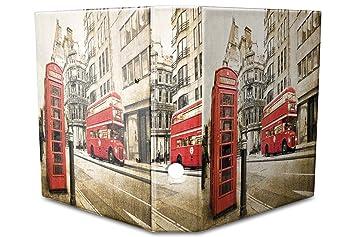 Archivador A4 Carpeta 2 anillas 60mm impreso teléfono autobuses rojos Londres: Amazon.es: Hogar