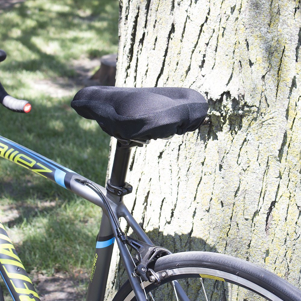 BV Bike Seat Cover Extra Soft Memory Foam Bicycle Saddle Cushion for Stationary Bikes Indoor Cycling Spinning Class