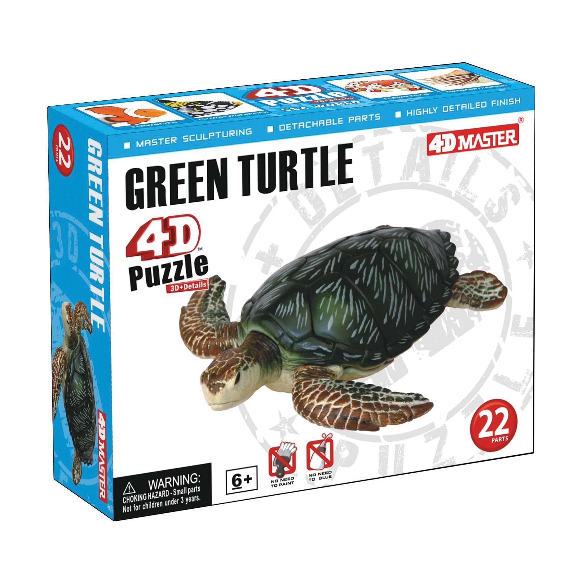 Constructive Playthings 26544 4D Puzzle - Green Turtle, Grade: Kindergarten to 5