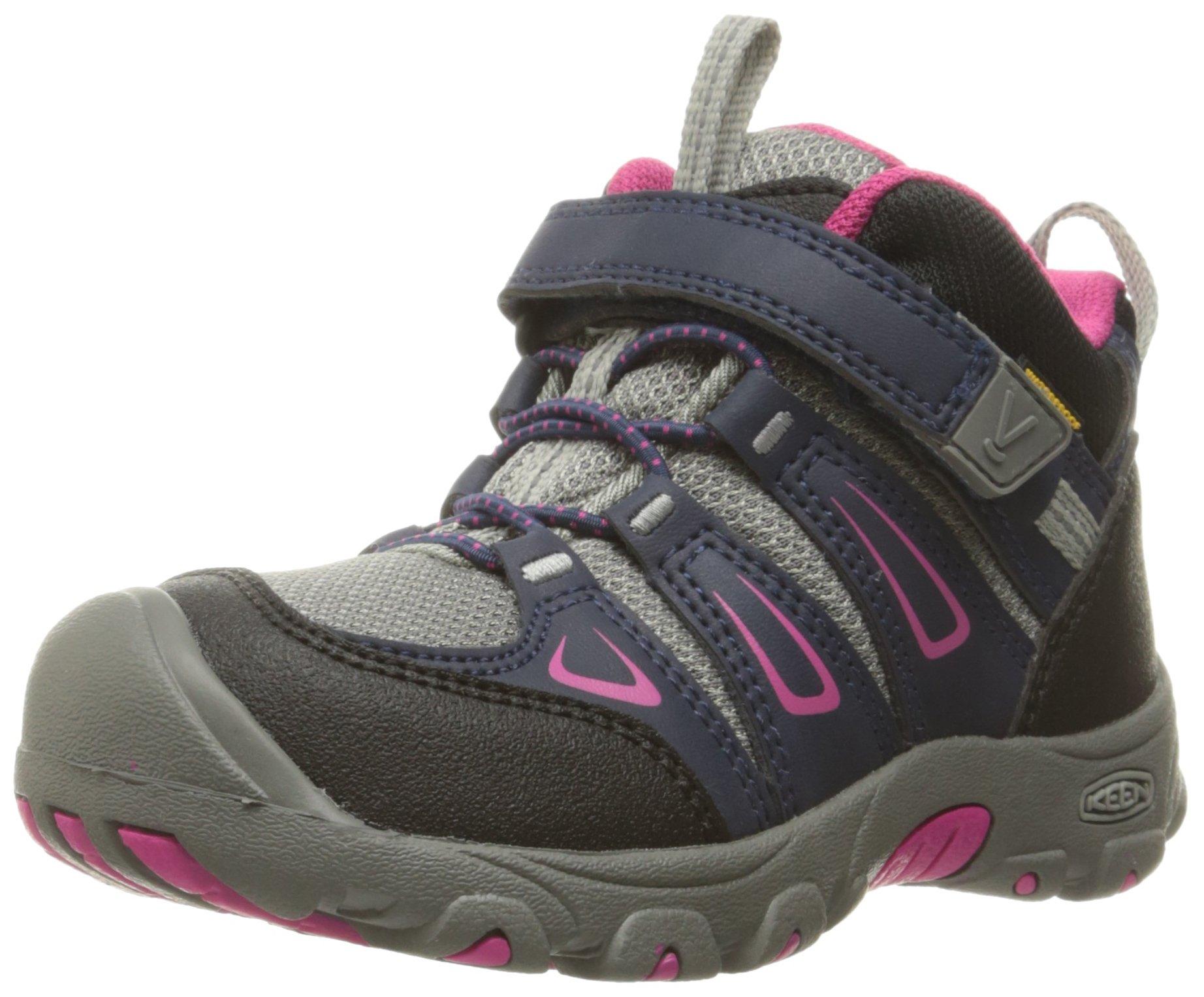 KEEN Oakridge Mid WP Hiking Shoe (Toddler/Little Kid), Dress Blue/Very Berry, 9 M US Toddler