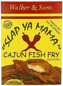 Slap Ya Mama Louisiana Style Cajun Fish Fry, MSG Free and Kosher, 12 Ounce Box, Pack of 6