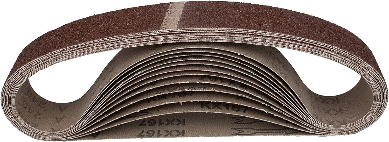 40 x 760 mm sanding belt mixed grain. 180-240 Pack of 12 fabric sanding belts 2 x 40-60 grit 80-120 compatible with pipe belt sander tube belt sandpaper