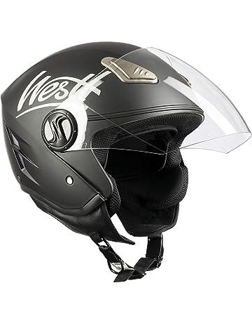 Westt® Jet · Casco Moto Jet Abierto para Motocicleta Ciclomotor y Scooter · Cascos  de 7610e0413a1