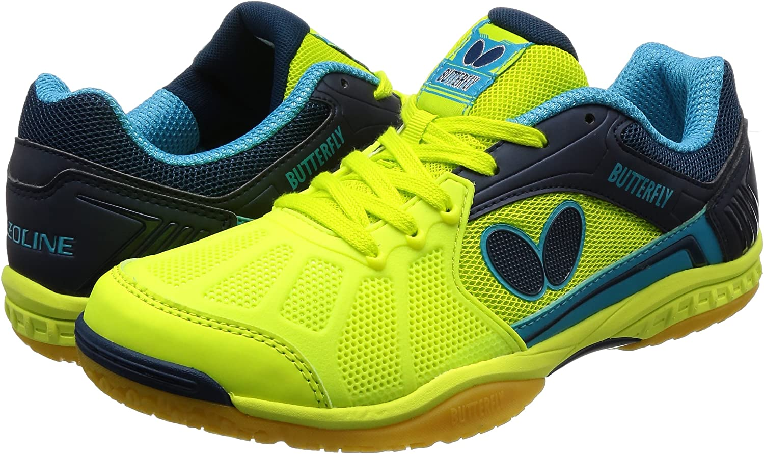 Butterfly Lezoline Rifones Shoes Athletic Support Gripping Ping Pong Shoe Flexibility Table Tennis Shoes for Men or Women Shock Absorbing Cushion