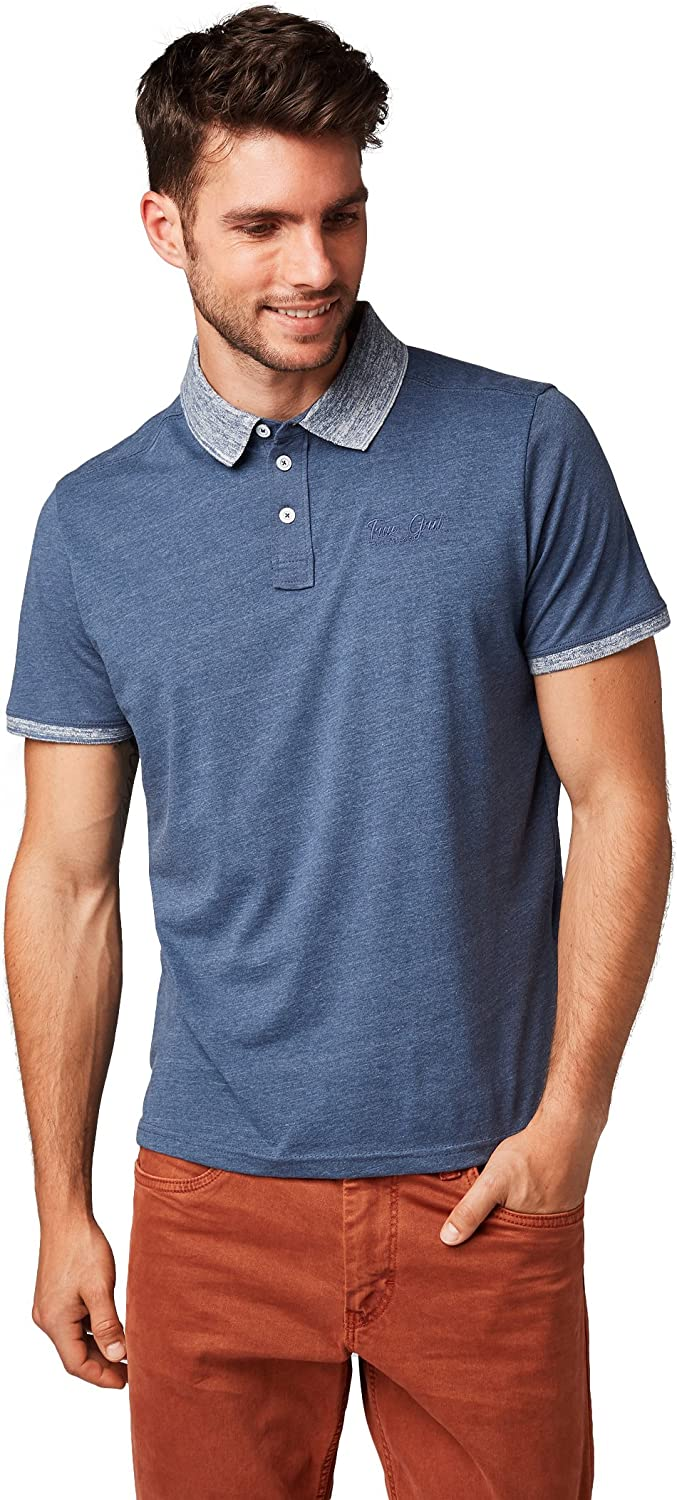 TOM TAILOR Polo Poloshirt Melange 1555070.00.10 6748