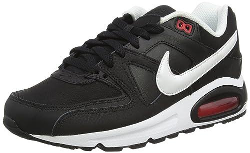 amazon nike air max command leather sneaker herren schwarz