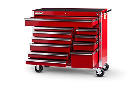 International VRB 4211RD 42 Inch 11 Drawer Red Tool Cabinet With Heavy Duty  Ball