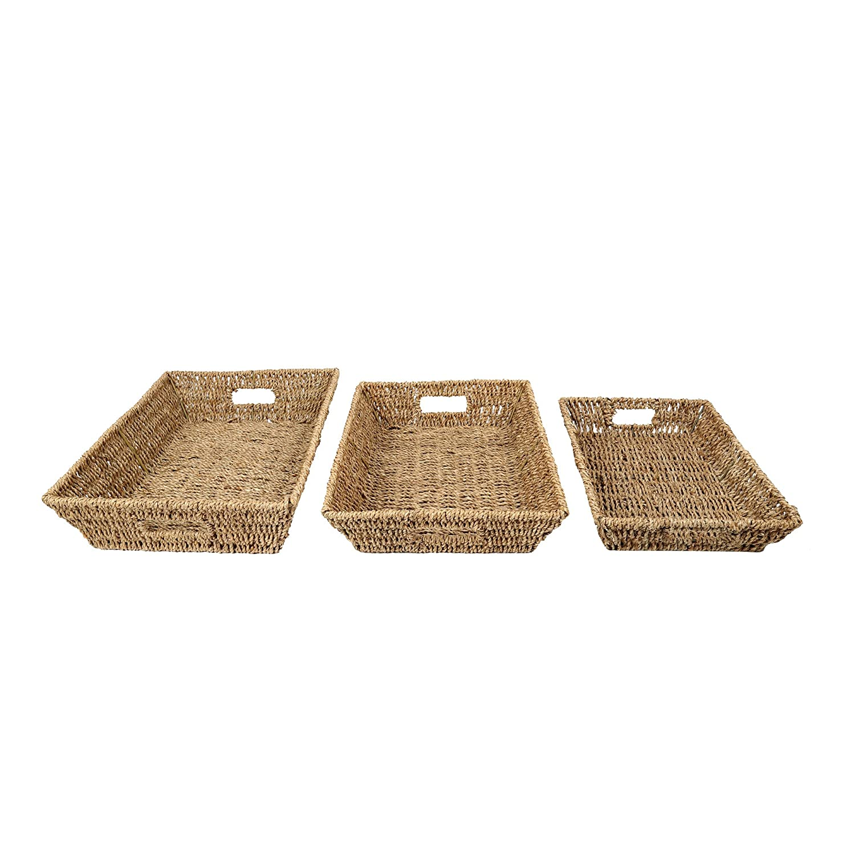 Truu Design Woven Seagrass Storage Basket, 10.5 x 5.5, White CTG Brands 66395