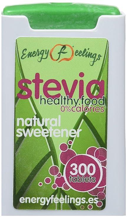 Energy Feelings Stevia Comprimidos - 4 Paquetes de 300 Cápsulas