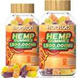 HOOLOO Hemp Gummies, 1,500,000MG Vegan Hemp Gummy Bears for Relaxing, Sleep Better, Reduce Stress Anxiety, Natural Hemp Extra