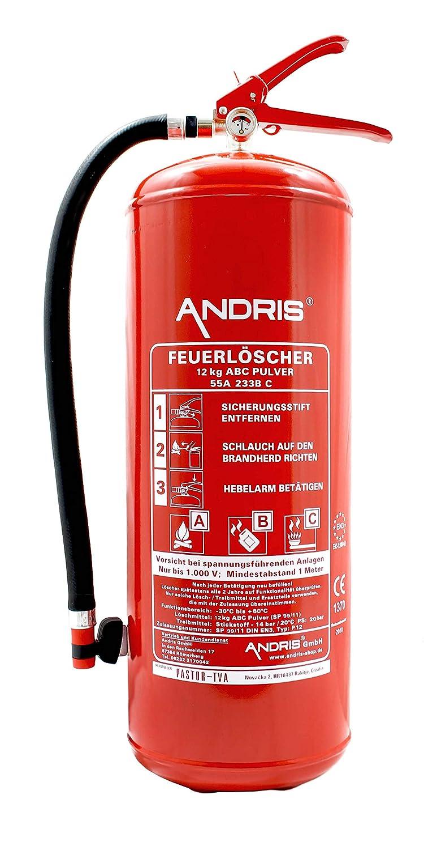 Extintor 12 kg ABC extintor de polvo en 3 incluye ANDRIS ...