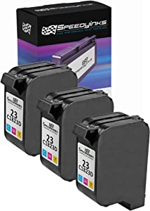 Speedy Inks Remanufactured Ink Cartridge Replacement for HP 23 (Tri-Color, 3-Pack)