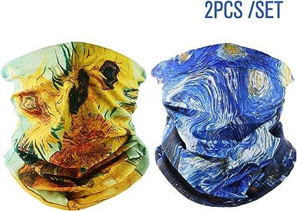 Magic Headwear Yellow Art Pattern Outdoor Scarf Headbands Bandana Mask Neck Gaiter Head Wrap Mask Sweatband