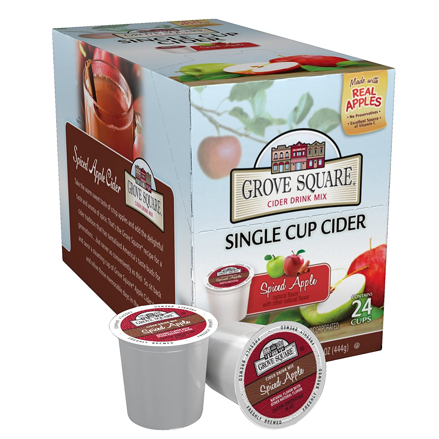 Grove Square Cider Single Serve Cups, Spiced Apple, 24 Count (Pack of 1)