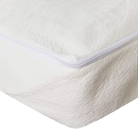 Sancarlos - Funda de colchon Aloe Vera para cama de 105 cm, color blanco
