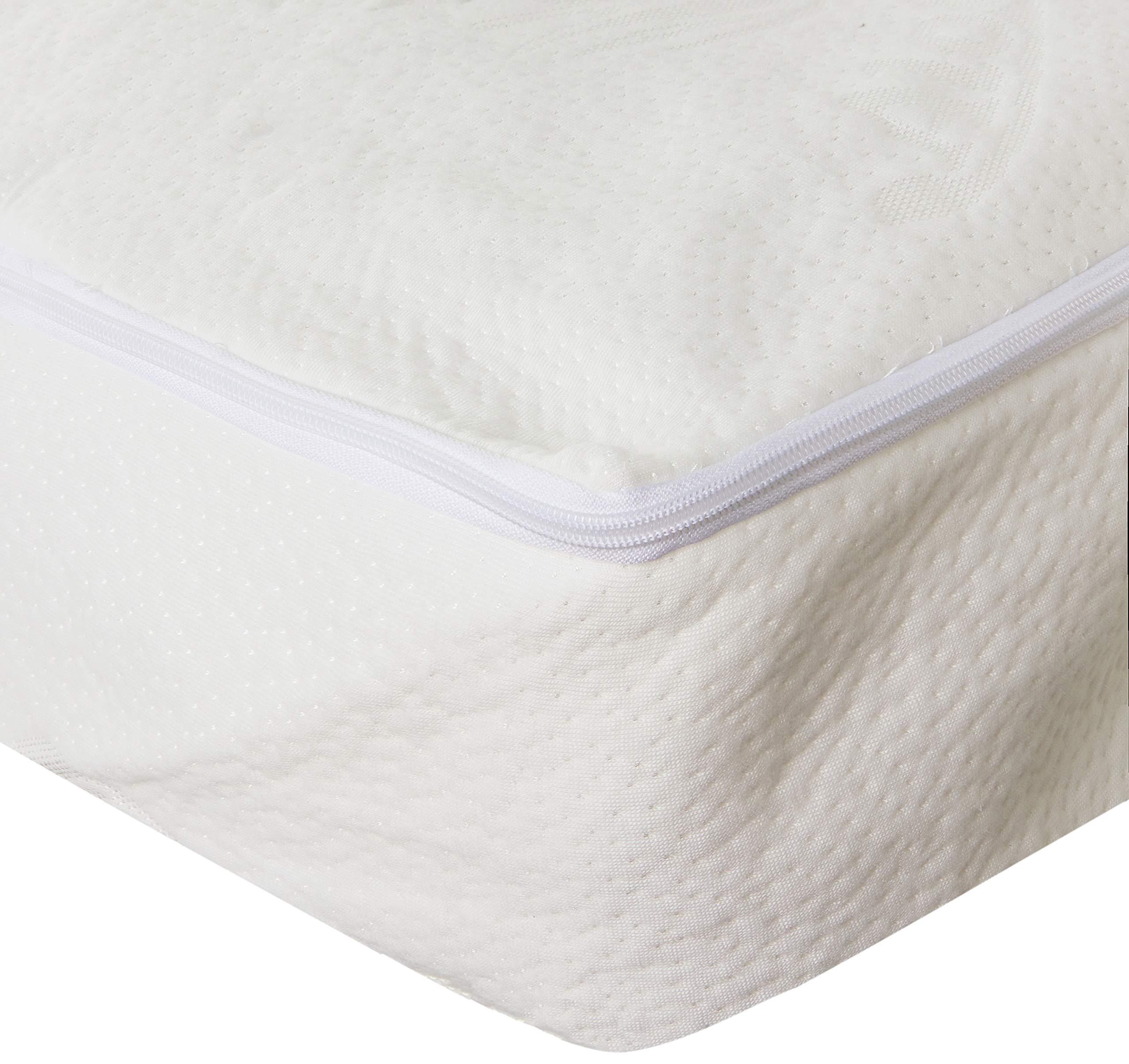 Sancarlos - Funda de colchon Aloe Vera para cama de 105 cm, color blanco product