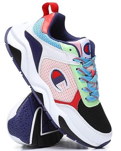 40d01f504b85 Champion Womens 93EIGHTEEN SP Block Sneakers CM100255W White Black 6