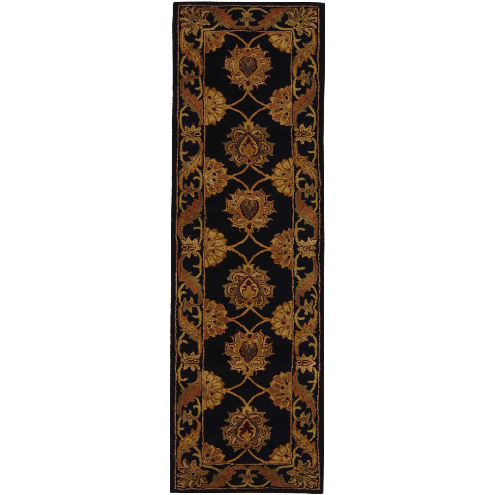 Safavieh Heritage Collection HG314A Handcrafted Traditional Oriental Black Wool Runner (2'3'' x 10') by Safavieh