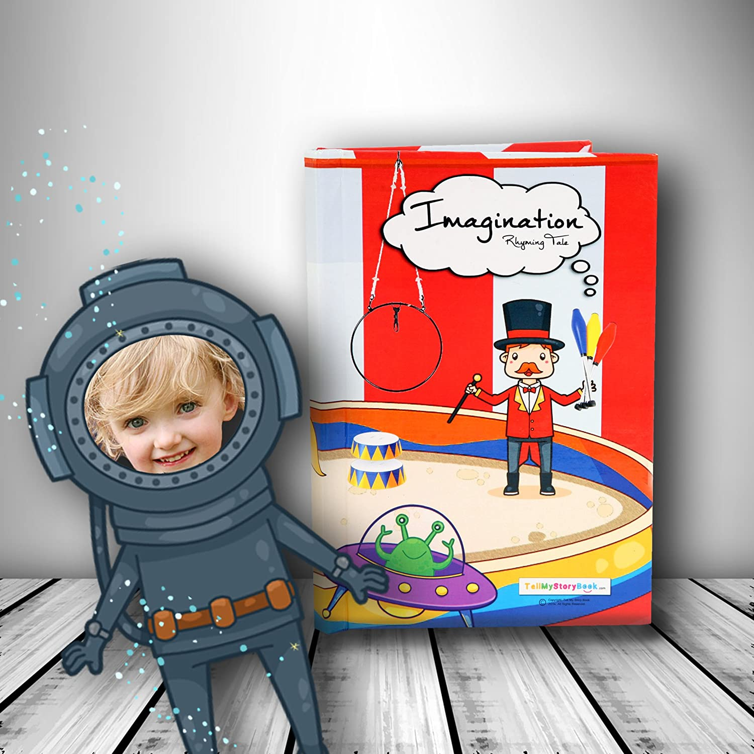 Hardback Personalised Children's Book using Your Child's Photo as the main character of the book!'Imagination' girls version Tellmystorybook Ltd Imagination girls version