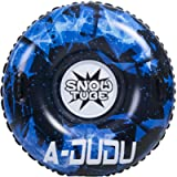 A-DUDU Snow Tube - Super Big 47 Inch Inflatable Snow Sled for Kids and Adults - Heavy Duty Inflatable Snow Tube Made by…