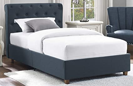 85ccb120a5cd Amazon.com: DHP Carmela Luxurious Upholstered Linen Platform Bed wih ...