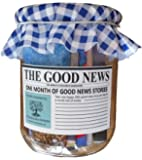 A Thousand Words Happiness, Positive Thinking & Mindfulness in a rustic jar: The Good News Paper - One month of uplifting real news stories - unique gift for any occasion!
