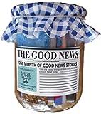 Felicità, Positività & Spensieratezza in un barattolo rustico, Motivo: The Good News Paper – Un mese di storie vere edificanti – regalo unico per la festa del papà o regalo di compleanno, Good News (Buone notizie), One Month
