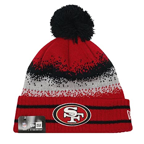 618e0f1c29b1b Image Unavailable. Image not available for. Color  New Era Men s San  Francisco 49ers Speckle Blend Knit Beanie One Size Red Black