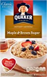 Quaker Instant Oatmeal, 80 Packets Total, 10 Packets Per Box, HpkCiU 2 Pack (Maple and Brown Sugar)