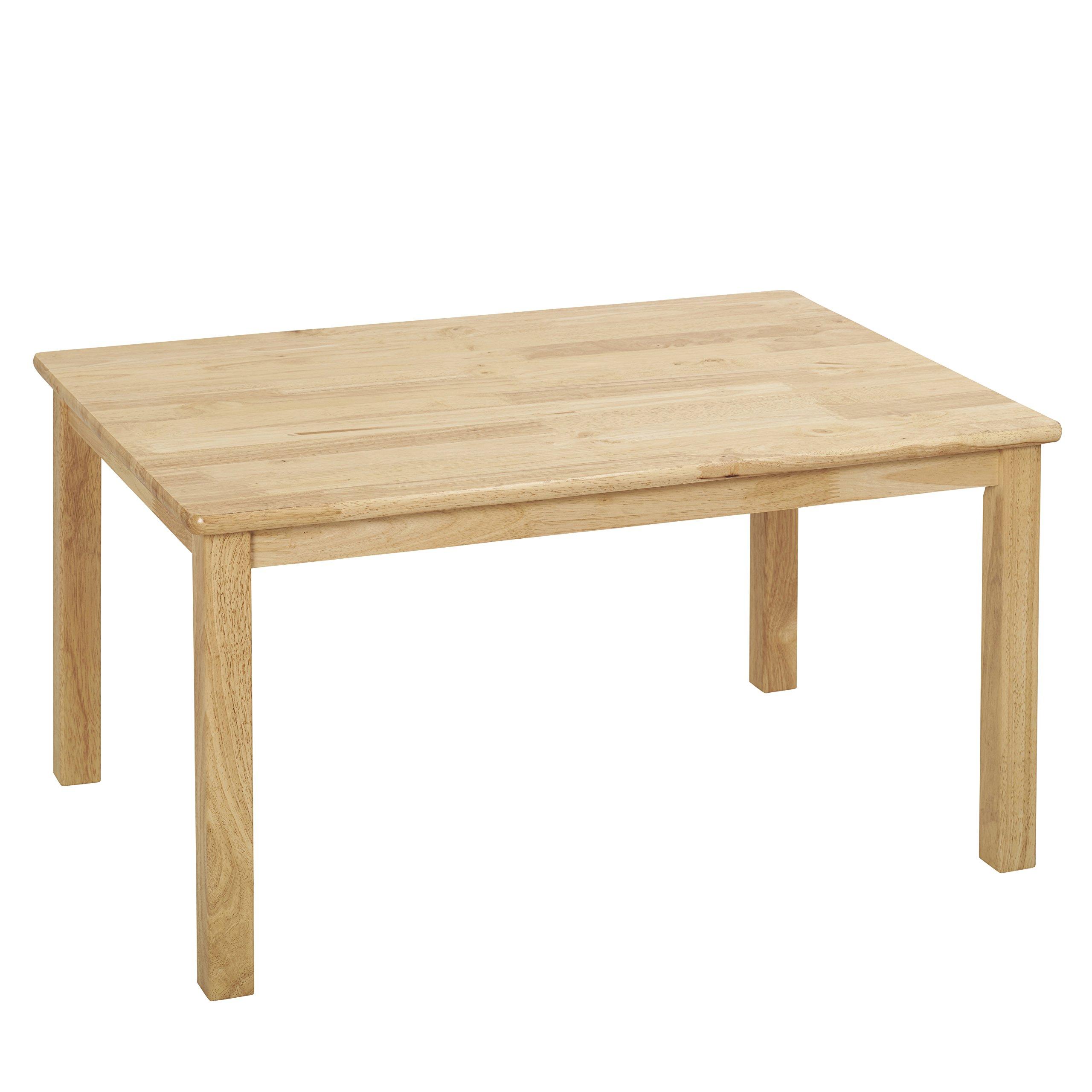 ECR4Kids 24'' x 36'' Rectangular Deluxe Hardwood Activity Table, 22''H