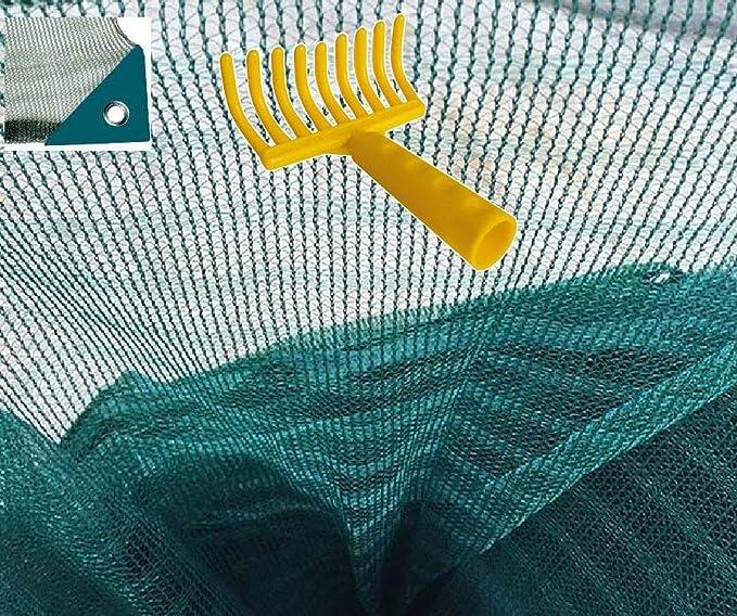 Telo rete raccolta olive antispina pesante con spacco con angolo rinforzato con occhiello OMAGGIO rastrello (mt 8x8)