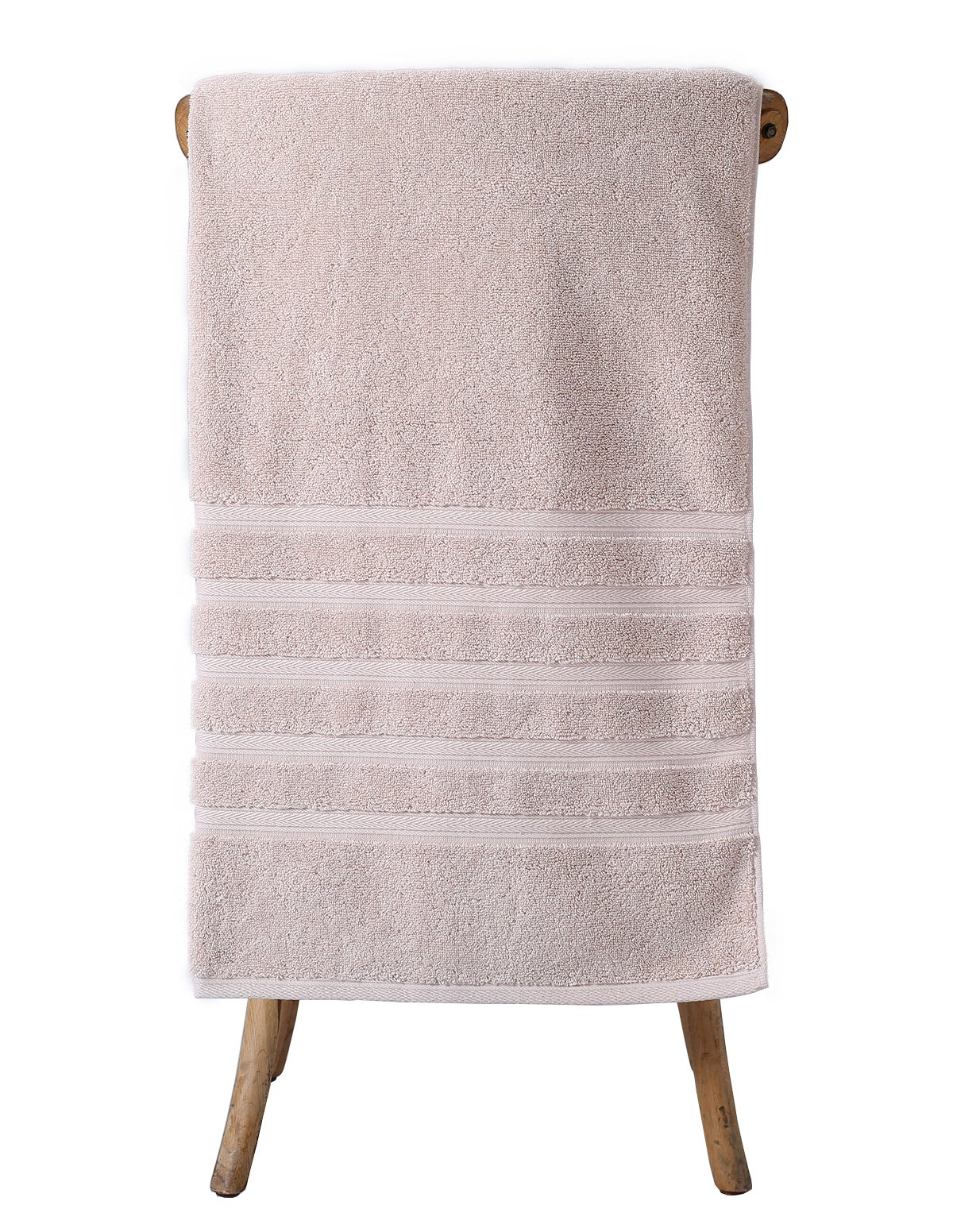 Metrekey Large Bath Towel Luxury Hotel Spa Collection Absorbent Bathroom Towels 35x70 inches Soft Clearance Organic 100% Cotton Thick Ultra Oversized Khaki
