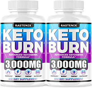 Keto Diet Pills - (2-Pack   176 Capsules) - Keto Pills for Keto Burn & Energy - Perfect Keto Fast Bhb Capsules with Apple Cider Vinegar for Weight Managment - Vegan Keto Fit Advanced Formula