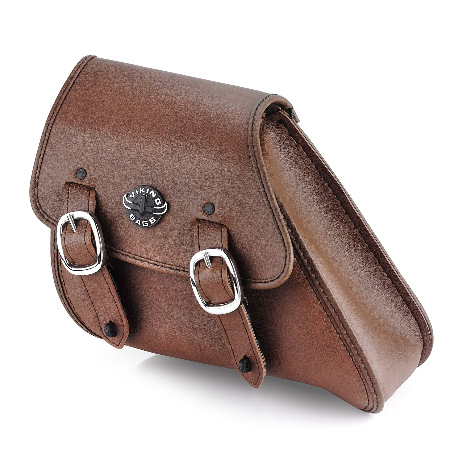 Dyna Brown Leather Motorcycle Swing Arm Bag