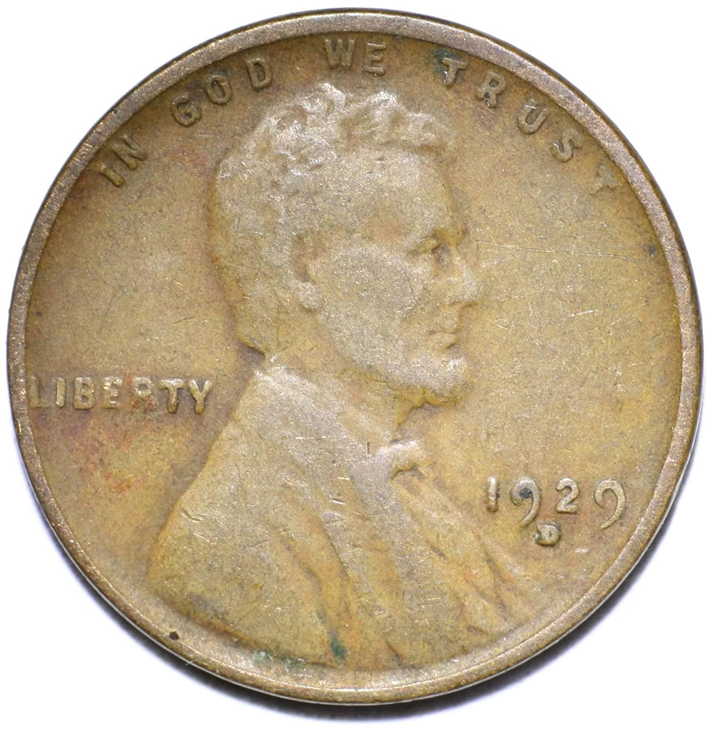 GD Condition ~ $20 ORDERS SHIP FREE! 1929-D Lincoln Wheat Cent in Good